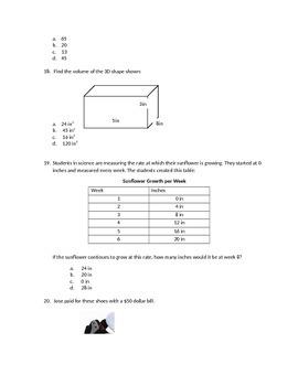 Standardized Test Prep 6th grade