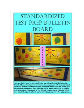 Standardized Test Taking Skills Test Prep Bulletin Board Template Pack Printable