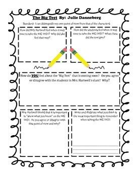 Standardized Test Prep Literature Based Activity