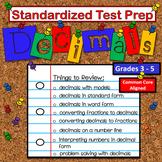 Math:  Standardized Test Prep - Math Decimals - FUN Game Review!
