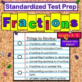 Math:  Standardized Test Prep - Math Fractions - FUN Game Review!