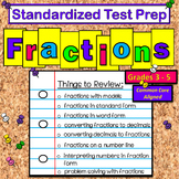 Math:  Standardized Test Prep - NC EOG - Math Fractions - FUN Game Review!