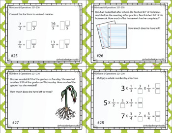 NWEA MAP Prep Math Task Cards Numbers Operations Maps RIT Band 221-230