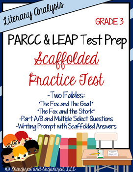 Test Prep Practice Test: PARCC/LEAP/Standardized Assmts- Literary Analysis Gr 3
