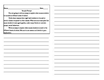 Standardized Test Prep Prompt w/ Grammar Multiple Choice A
