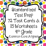 State Test Prep - PARCC Math 4th Grade Task Cards and Printables