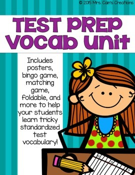 Standardized Test Prep Vocabulary Pack