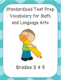 Standardized Test Prep Vocabulary for Language Arts and Math - CC Aligned