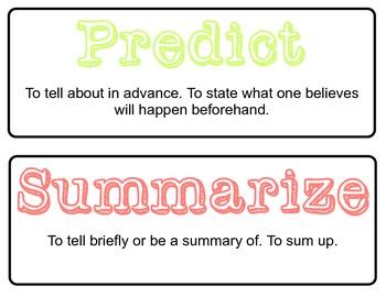 Standardized Test Prep Words