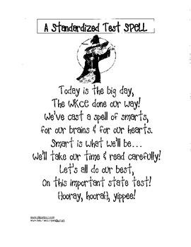 Standardized Test Preparation- Chant/Poem for positive reinforcement