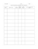Free Standardized Test Student Progress Log - Answer Sheets