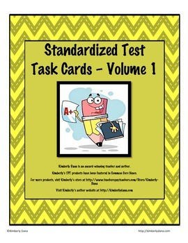 Standardized Test Task Cards - Volume 1