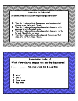 Standardized Test Task Cards - Volume 2