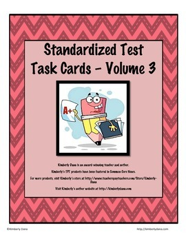 Standardized Test Task Cards - Volume 3