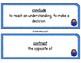 Standardized Test Verbs Word Wall (blue)