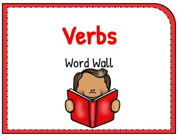 Standardized Test Verbs Word Wall (red)