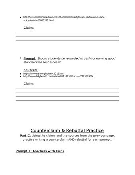 Standardized Test: Writing Practice/Study Guide