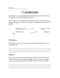 Standardized Test, student reflection and goal-setting sheet