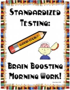 Standardized Testing Brain Boosting Morning Work