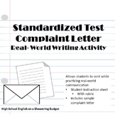 Standardized Testing Complaint Letter (A Real-World Writin