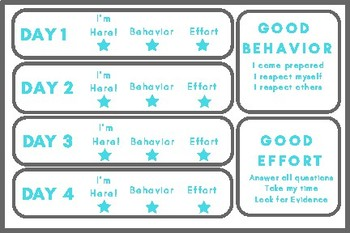 Standardized Testing Incentive Cards