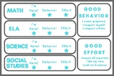 Standardized Testing Incentive Cards