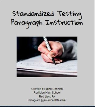 Standardized Testing Paragraph Writing