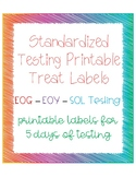 Standardized Testing Printable Treat Labels