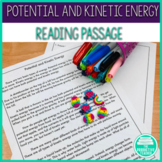 Reading Comprehension Passage and Worksheet: Potential and Kinetic Energy
