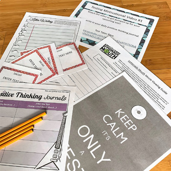 Standardized Testing Season Motivational Tools for Teens, Growth Mindest