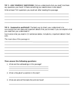 Standardized Testing TIPS Guided Assignment