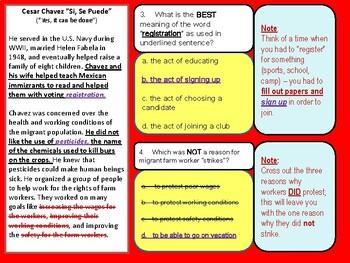 Standardized Tests/iReady Practice-Cesar Chavez