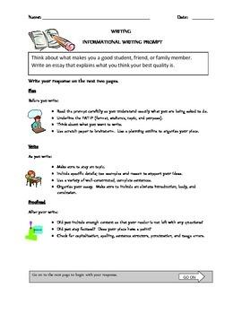Writing Assessment Prompt Bundle