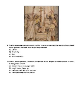 Standardized test questions - Rome, Byzantine Empire