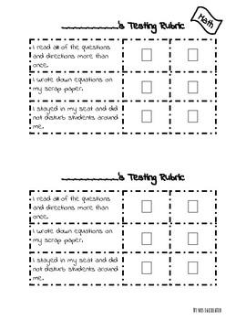 Standardized testing reflection rubrics for Math and ELA