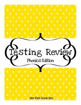 Standardized testing reivew-phonics