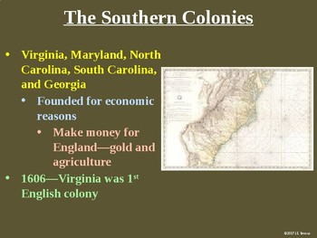 Standards 1-2 (The American Colonies) GSE