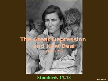 Standards 17-18 (The Great Depression and New Deal) GSE