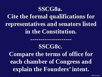 Standards 8-9 (The Legislative Branch) GSE