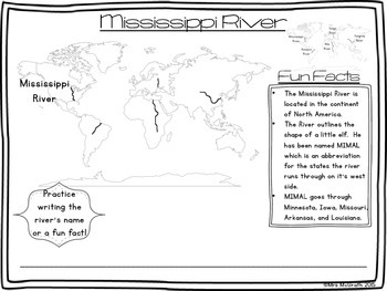Standards Aligned Major Rivers of the World