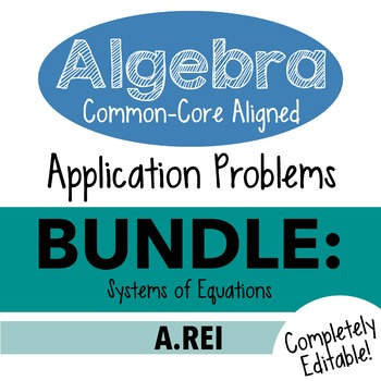 Standards Based Algebra 1 Assessment - A.REI Systems of Equations Bundle