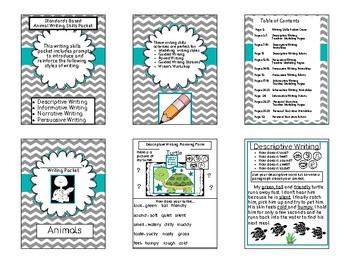 Standards Based Animal Writing Skills Packet