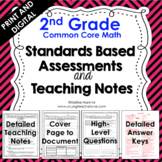 2nd Grade Math Assessments - Common Core Aligned - Distance Learning