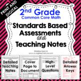 2nd Grade Math Assessments - Common Core Aligned Google Sl