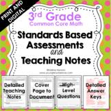 Standards Based Assessments: 3rd Grade Math *ALL STANDARDS