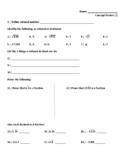 Standards Based Assessment (8th Grade Math) Week 1