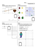 Standards Based Assessment (8th Grade Math) Week 27