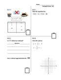 Standards Based Assessment (8th Grade Math) Week 30