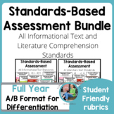 Standards Based Assessment BUNDLE: Complete Set of ALL Reading Standards