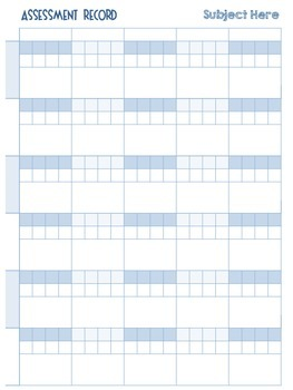 Standards Based Assessment Record